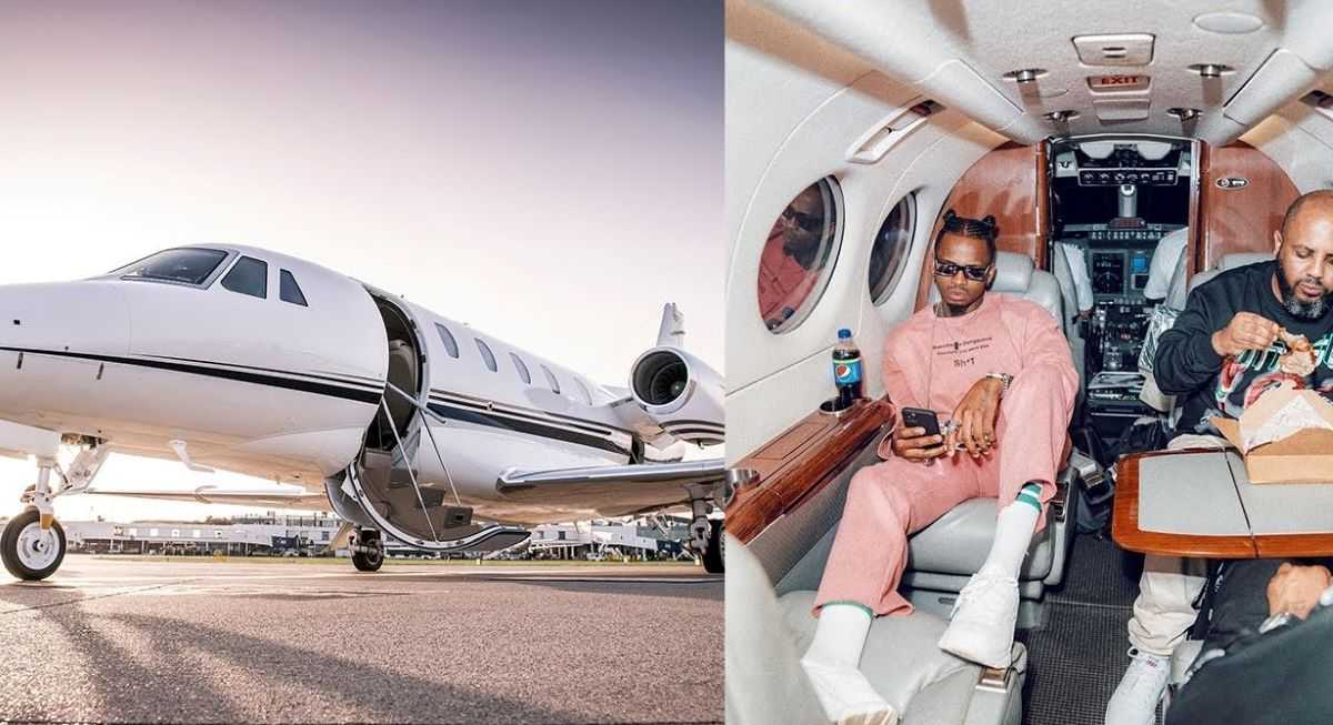 Flashy Diamond Platnumz Hits About Flying To South Africa To Buy His Own Private Jet, Just Days After Buying A Rolls Royce. 3