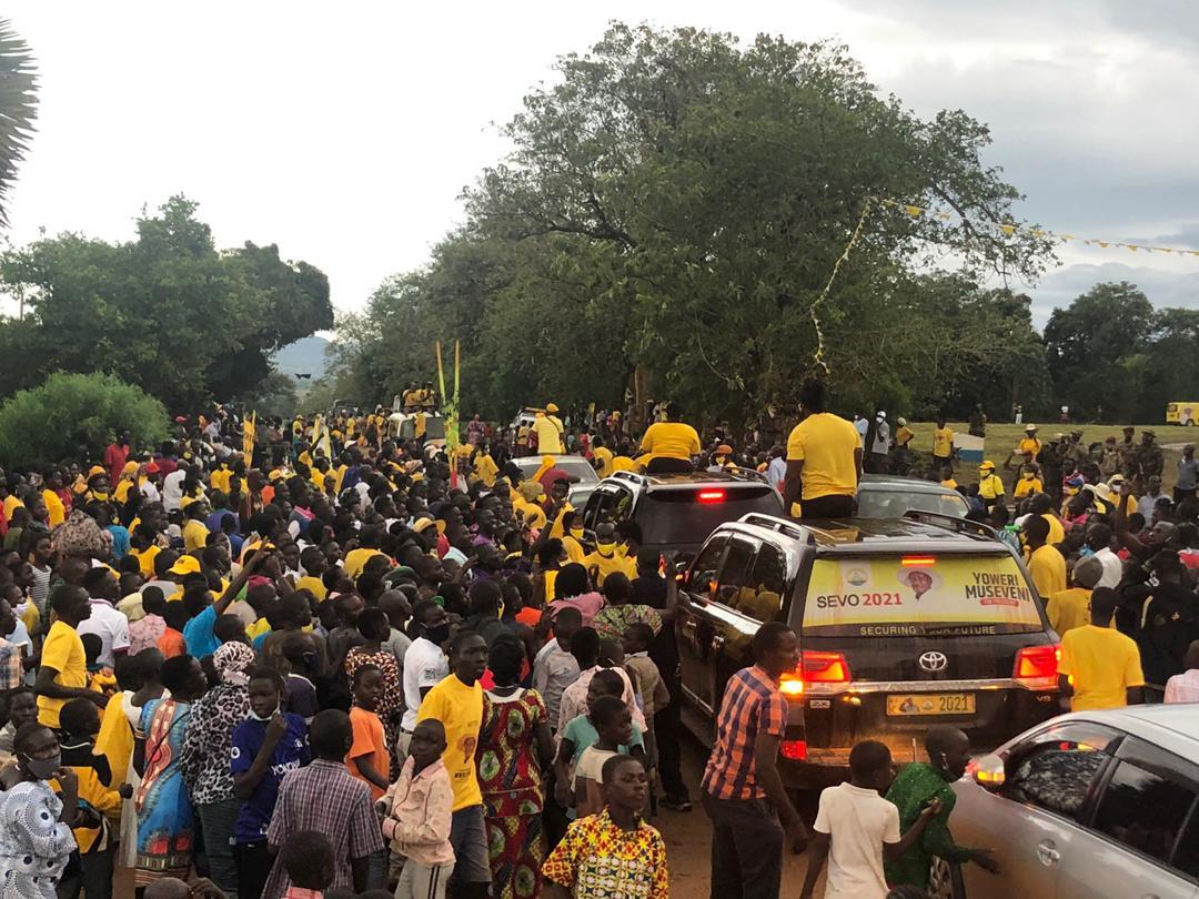 NRM Procession in Gulu on 16th November 2020